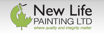 Logo for New Life Painting Company in Metro Vancouver. Where quality and integrity matter.